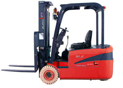 three wheel battery forklift